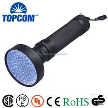 High power ultraviolet detection 100 led UV LED flashlight led purple light uv flashlight