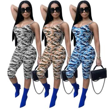 jumpsuit shorts for women Sexy Spaghetti Strap Jumpsuit Rompers Camouflage party  jumpsuits clubwear women