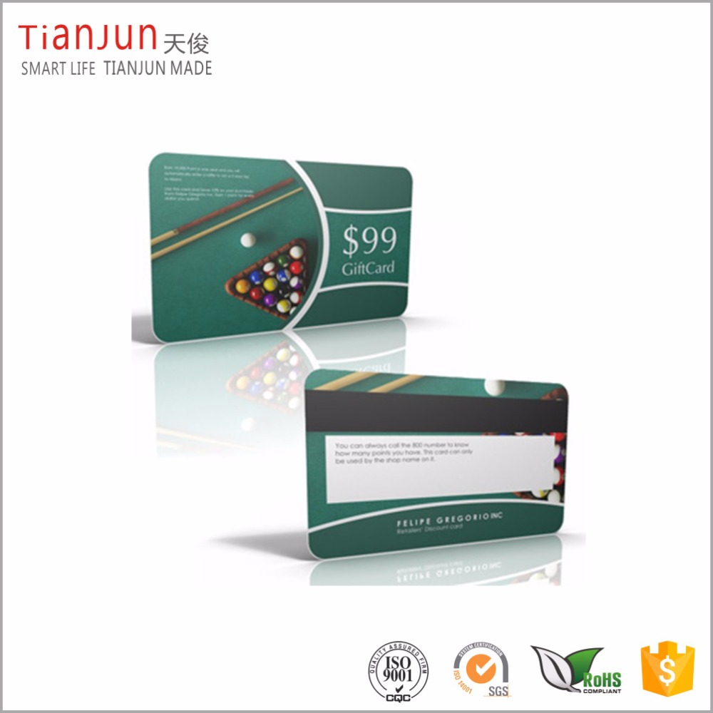 PVC plastic card manufacturer best magnetic stripe card printing service