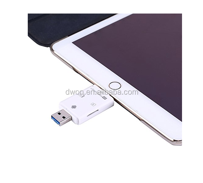 iFlash USB SD HC MicroSD OTG Card Reader for Android iPhone 5 6 6 Plus iPad