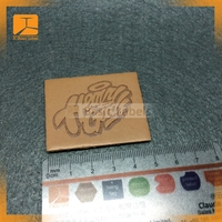 Hot sale custom embossed leather label garment leather patch for hat /clothing/jeans