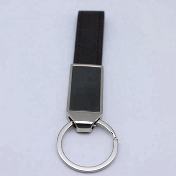 Funky cheap custom double metal keychain gift