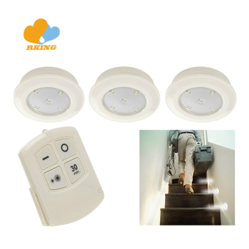 Garden3x Wireless Battery Operated 5 LED Cupboard Under Cabinet Recess Lighting With Remote Control Kitchen Cabinet Sensor