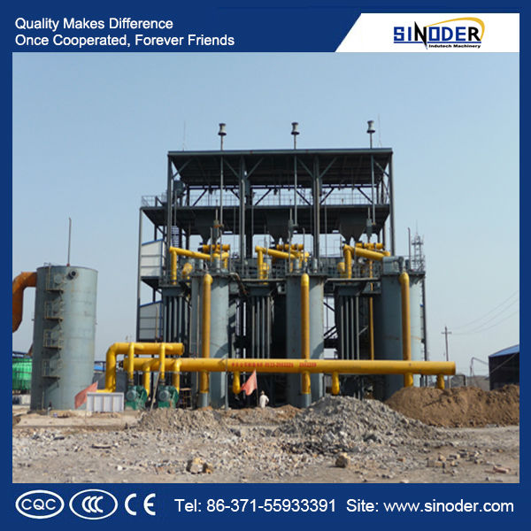 Coal gasification power plant used in coal-fired, fuel boilers, kiln, metallurgy which need heat source equipment.