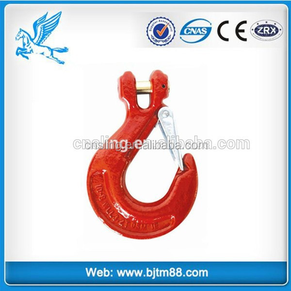 Trade Assurance Alloy steel/carbon steel drop forged plastic-sprayed lifting hoist nose shape hook
