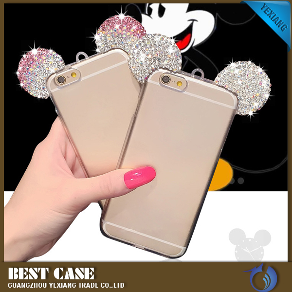2017 Diamond Bling Rhinestone Ears For Motorola Moto g3moto g 2015moto g 3rd gen Mobile Cover