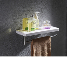 Stainless steel bathroom accessories toilet paper holder with shelf
