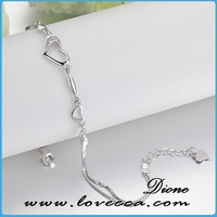 pure silver 925 bracelet for girl bracelet with silver nugget