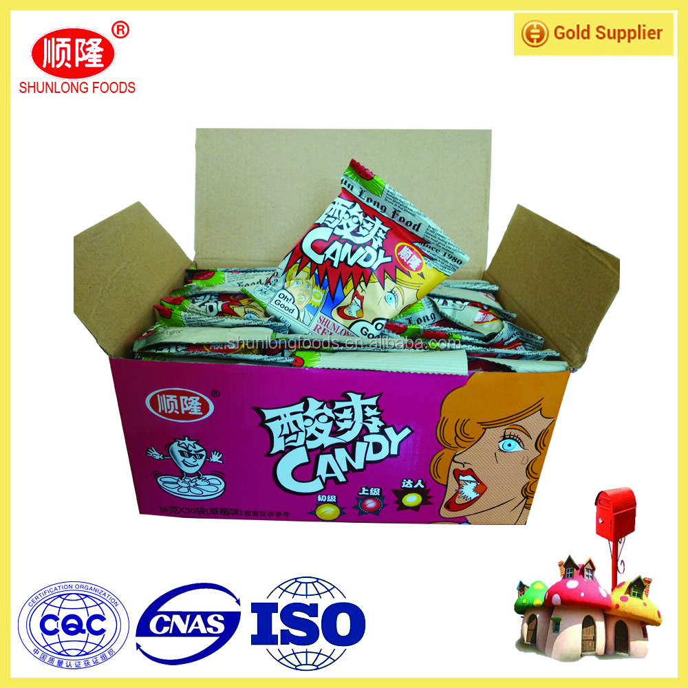 Delicious Assorted Super Sour Flavor Hard Sweet Candy/Confectionery Products For Thailand