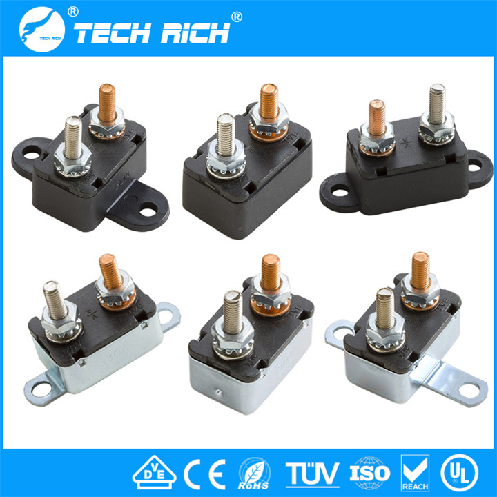 No/Vertical /Horizontal Mounting Bracket Metal/Plastic Auto Reset Automotive Circuit Breaker 12VDC 24VDC