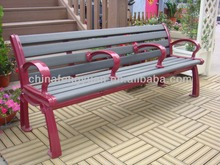 100% Plastic Wood Outdoor Furniture Park Bench