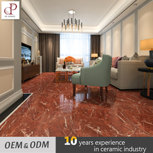Full Polished Galzed Marble Morbi Bright Red Ceramic Floor Tiles 400X400 600X600