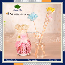Home fragrance air freshener gifts set natural flower sticks reed diffuser