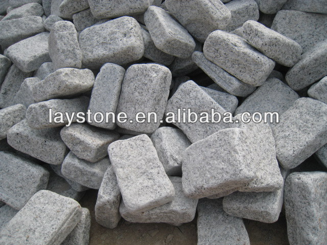 tumbled granite cobbles