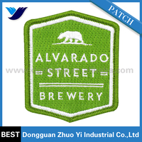 Custom logo label embroidery patch clothes, jeans embroidered patches