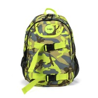 Camouflage fabrics backpack school bag skateboard backpack