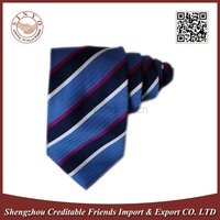 100% Real Silk Woven Striped Necktie For Young
