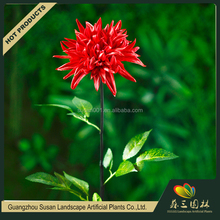 Hot sale guangdong shopping mall decoration bulk artificial pu real touch dahlia flowers