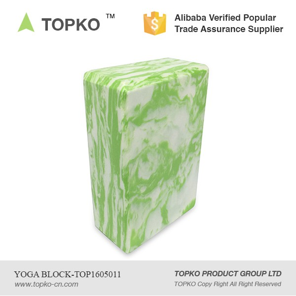 TOPKO New Product Product Eco Friendly Exercise Private Label Camo colored EVA Yoga Block