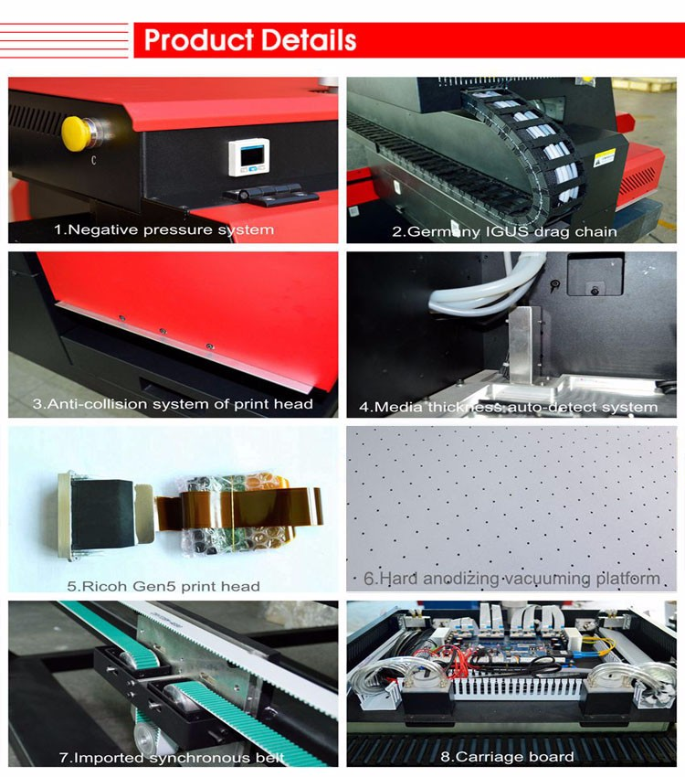 Best selling inkjet uv printing machine 8 color offset