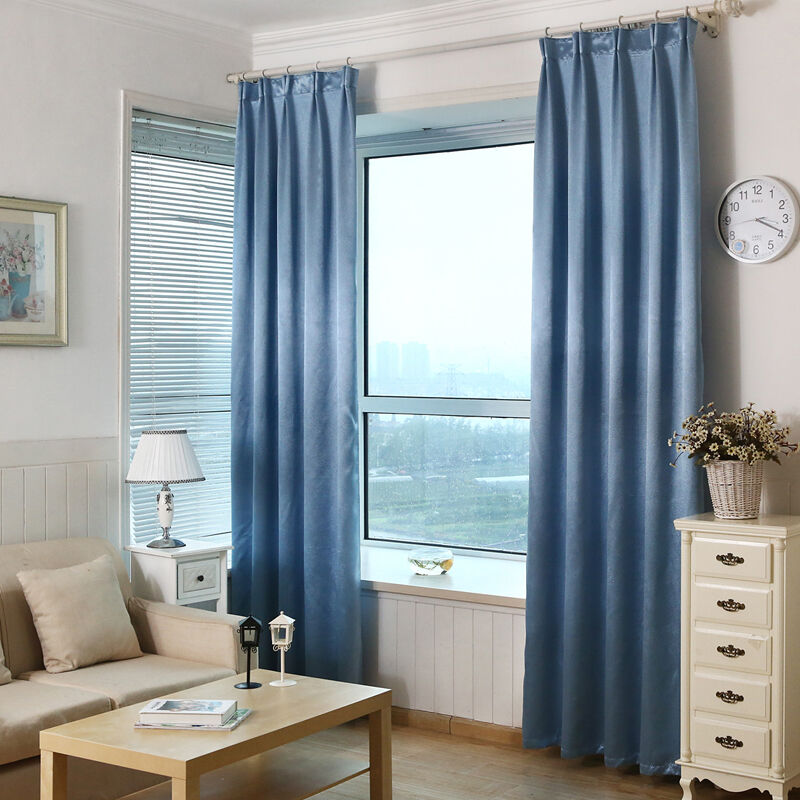 Soundproof blackout living room windows finished curtain