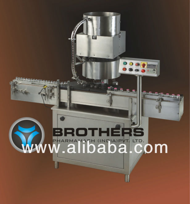 Automatic Ten Head Rotary Measuring Cup Placement / Cap Pressing Machine Model CAPPRESS-250R