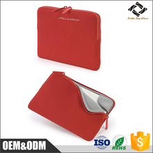 Neoprene waterproof custom size red color computer bag 13.3 15.6 inch laptop sleeve for office lady