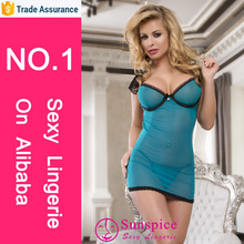 hot sale sexy babydoll lace slip sexy lingerie & blue mature girl lace satin lingerie pics