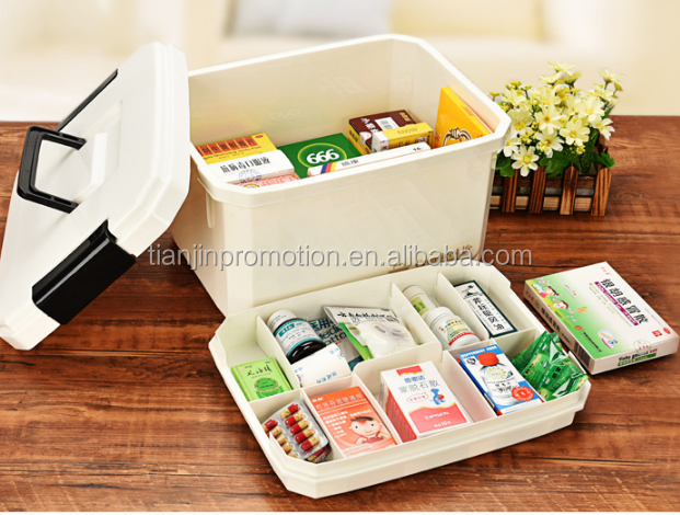Wholesale CE ISO FDA approved OEM plastic box office home workplace first aid supplies medical first aid box