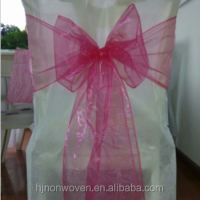 fancy cheap chair cover organza sash for party decoration