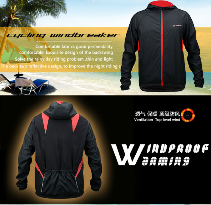 INBIKE parkour mens led jackets sport/custom cycling winter jacket