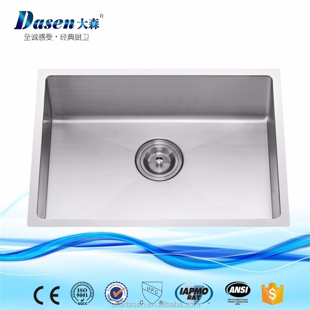 DS 6145H 18 guage Stainless Steel 304 Single bowl Kitchen Handmade sink On sale
