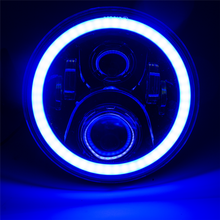 Phone Control Bluetooth headlight RGB Color Halo angel eye 7inch led headlight For Jeep wrangler jk