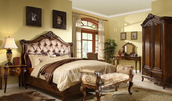 russia style carved bedroom furniture