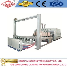 corrugated cardboard printing+slotter+die-cutting+stacker packaging machine