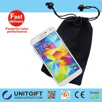 Satin drawstring pouch soft cell phone pouch