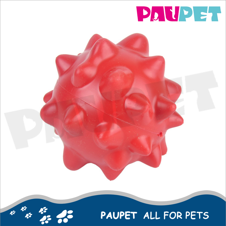 Wholesale pet supplies soft rubber ball chewing plastic rubber supply pet toy products