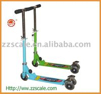 Three PVC colorful wheels Foldable kids scooter