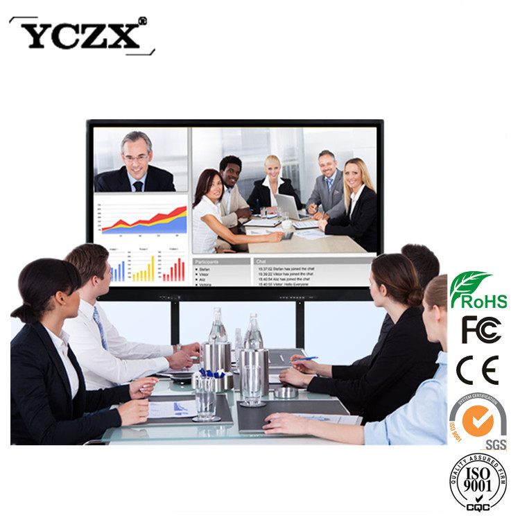 Android system LCD touch monitor 1080P 55 inch wifi infrared touch screen 10 users smart board