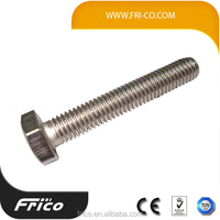 High strength DIN933 electro galvanized hex head bolt M6