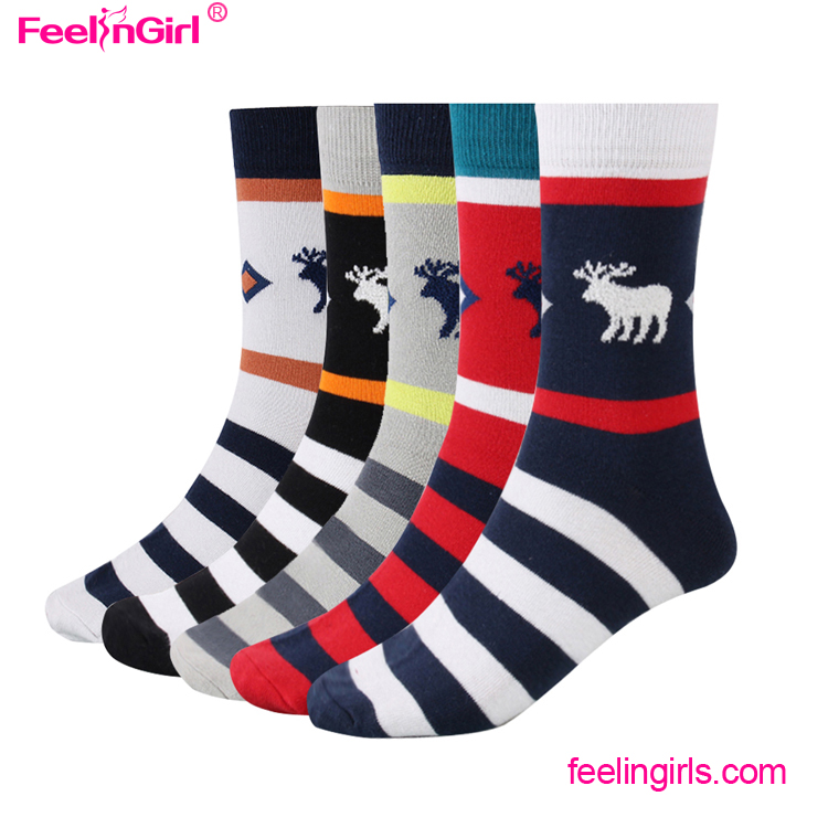 Wholesale Very Cheap Christmas Winter Men Printed Compression Sock