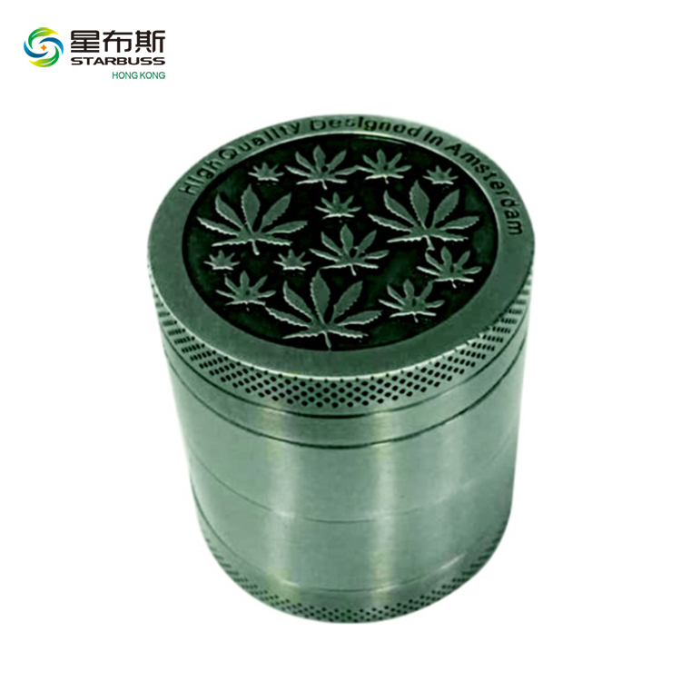 PH5819 Wholesale Custom Poker Card Metal Splice Tobacoo Herb Grinder