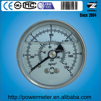 2 inch all stainless steel material manometr for 12bar or customized pressure range