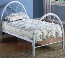 Hot sale metal bed twin bed with steel wire for kids bedroom