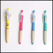 Small cute plastic ball point pen with sticker logo for Primary school students