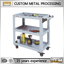 Iron Q235 cold roller steel platform foldable trolley