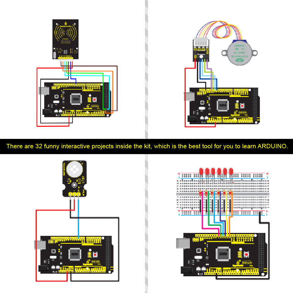 MEGA 2560 STARTER KIT FOR ARDUINO -