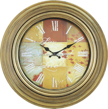 20 inch big plastic round antique wall clock for home decoration with fashion simple design