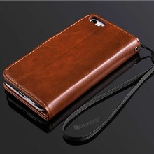 Magnetic snap-on wallet leather case for iphone 5c cell mobile phone case made in China