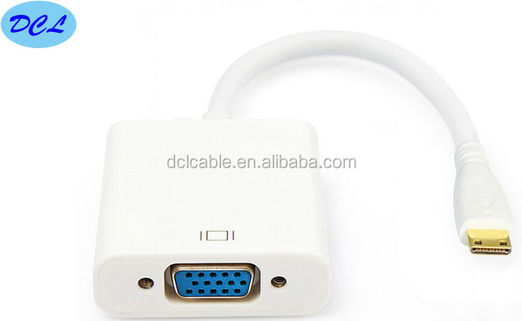 MINI HDMI male to VGA female adapter with chipset